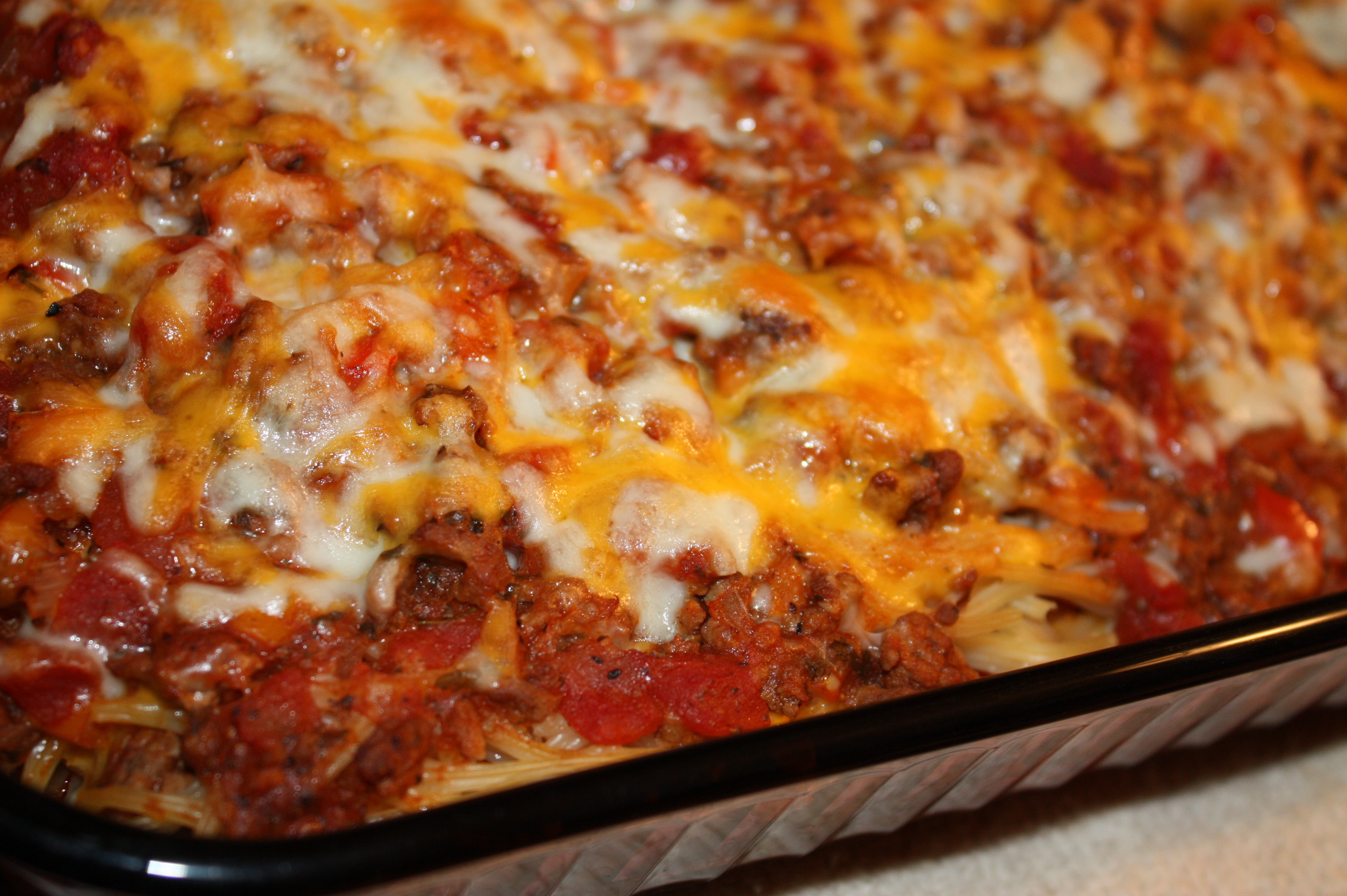 Baked Spaghetti | QUILTandCAFE
