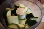 zucchini in the food processor